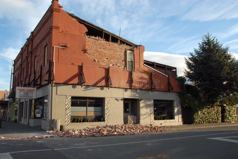 New Zealand Earthquake damage stock photography