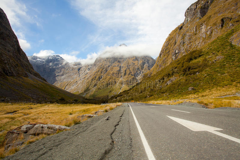 New Zealand Fiordland Mountain Landscape. At the Milford Sound royalty free stock photography