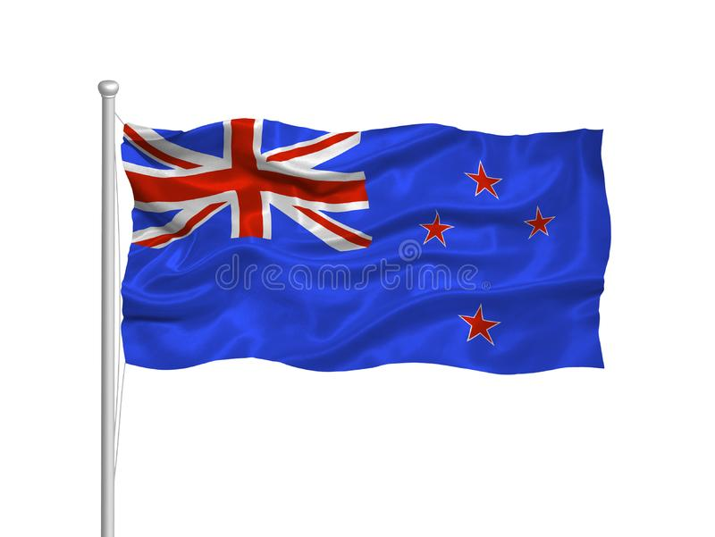 New Zealand Flag 2 royalty free stock photography