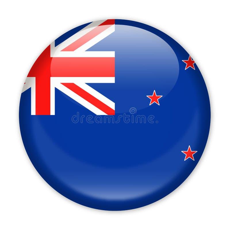 New Zealand Flag Vector Round Icon stock illustration