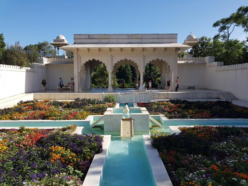 Indian Char Bagh Garden in Hamilton Gardens Hamilton, New Zealand stock images