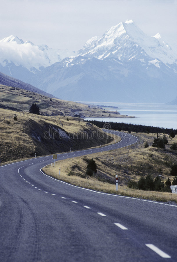 New Zealand Highway royalty free stock photos
