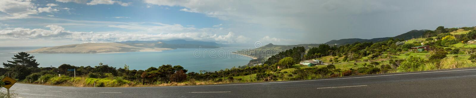 New zealand kaipara panorma landscape. North island royalty free stock image