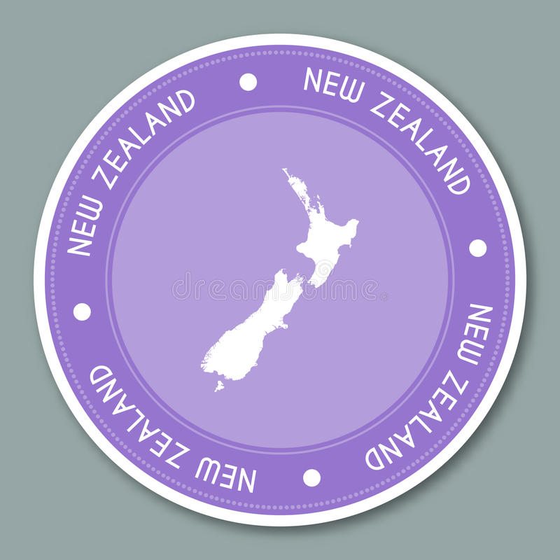 Download new zealand label flat sticker design stock vector illustration of chart australia
