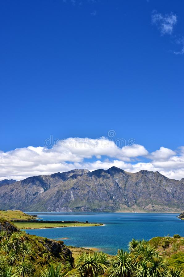 New Zealand Lake Hawea royalty free stock image