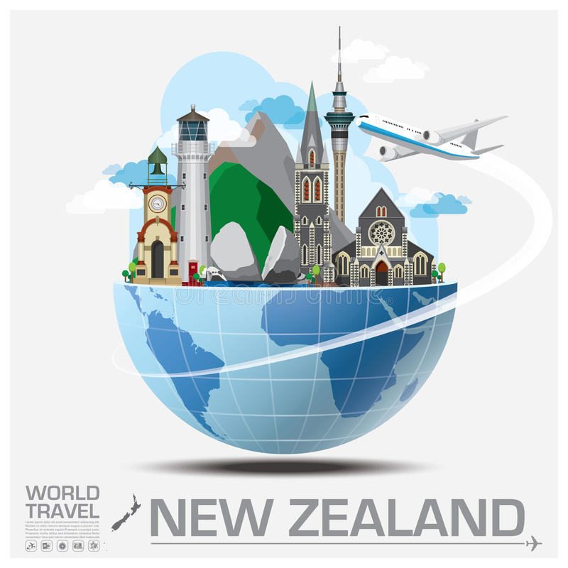 New Zealand Landmark Global Travel And Journey Infographic