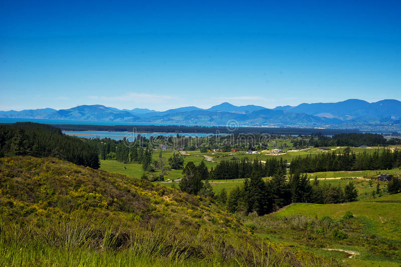 New Zealand Landscape. New Zealand, landscape on the road to Picton, the south island stock photos