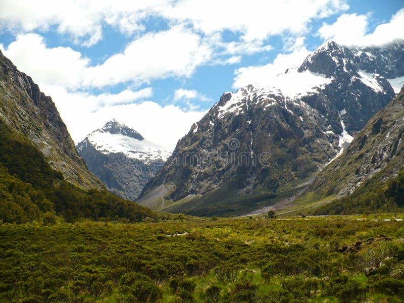 New Zealand Mountain Landscape stock photos
