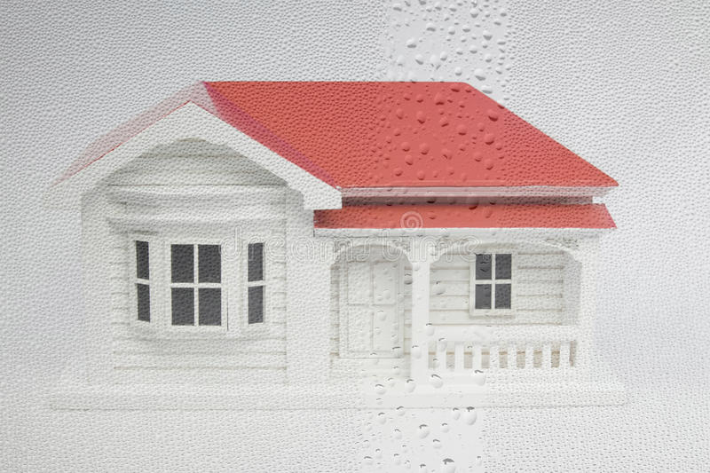 New Zealand NZ villa house model with window condensation and da stock images