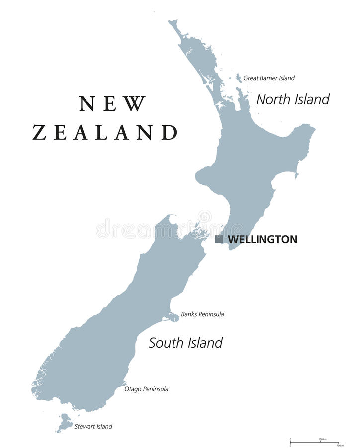 New Zealand political map stock vector Illustration of pacific