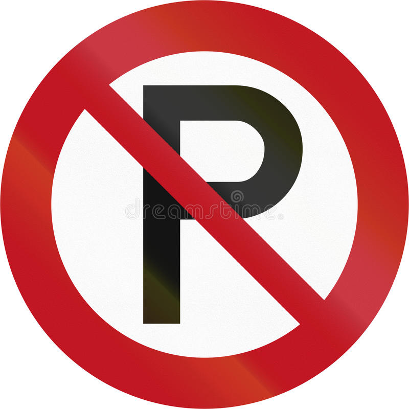 New Zealand road sign RP-1 - No parking vector illustration