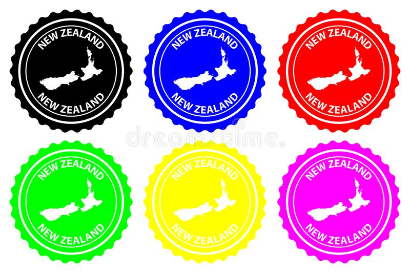 New Zealand rubber stamp vector illustration