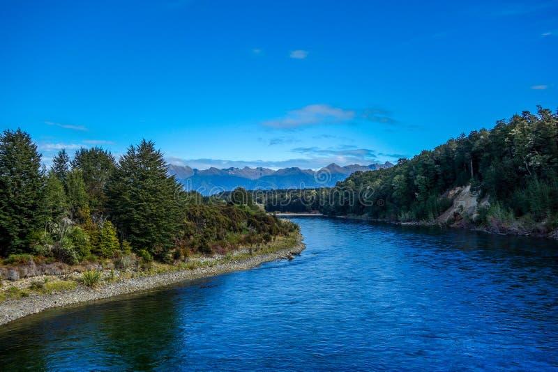New Zealand 70. Waiau River in Fiordland national park New Zealand royalty free stock photos
