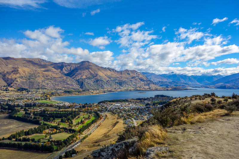 New Zealand 8. Wanaka Lake from Mount Iron New Zealand stock photos