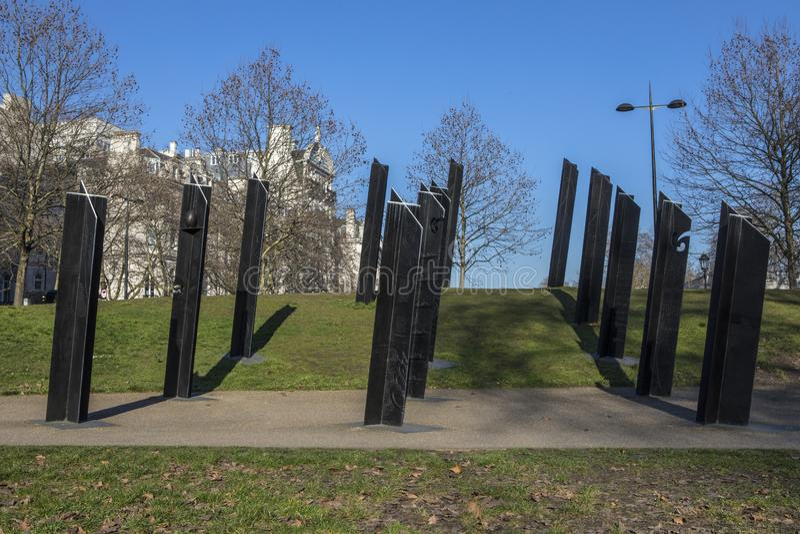 New Zealand War Memorial Hyde Park Corner In London Stock