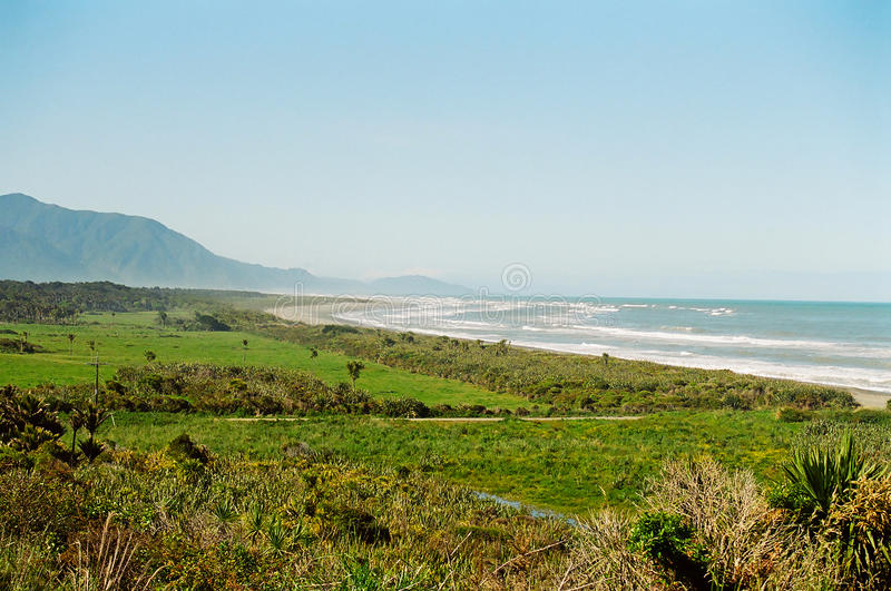 New Zealand West Coast. West Coast coastline in the South Island of New Zealand royalty free stock images