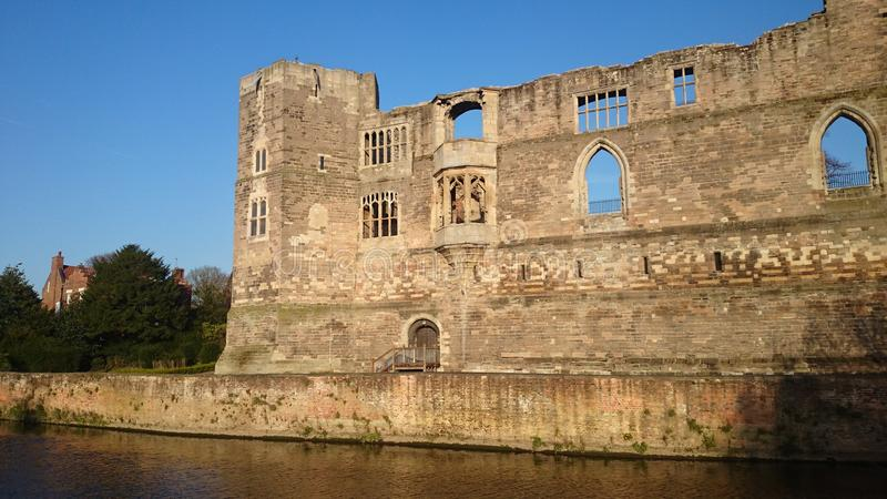 Newark castle. Remains of Newark castle in Nottinghamshire built in 1130 by Alexander 'the magnificent' the then bishop of Lincoln stock photos