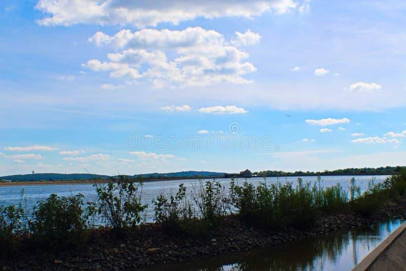 Newark Delaware Reservoir Blue Sky stock image
