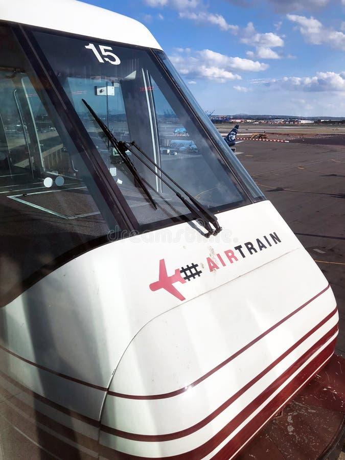 Newark lotniska powietrza pociąg fotografia royalty free