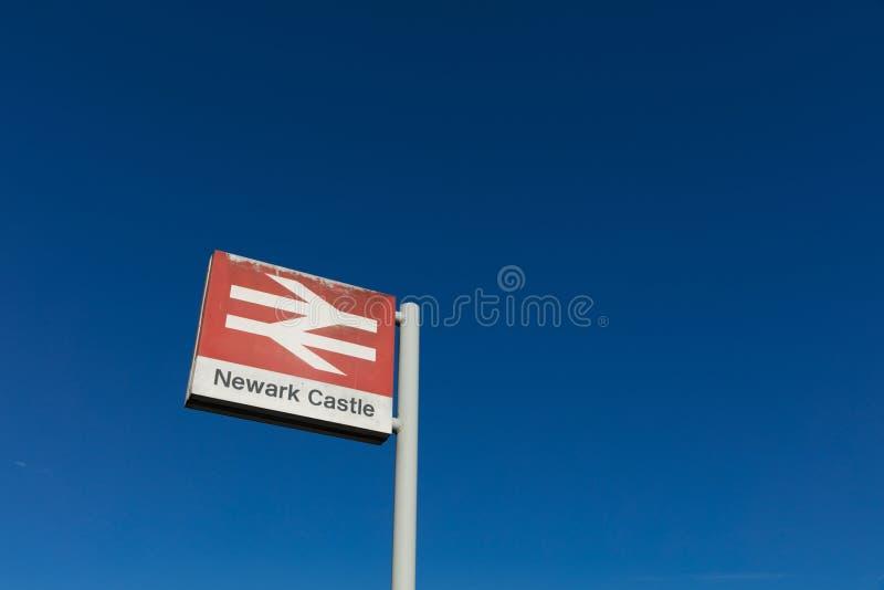 Newark-Schloss-Bahnhof, Newark, Nottinghamshire, Großbritannien, Octo stockfoto