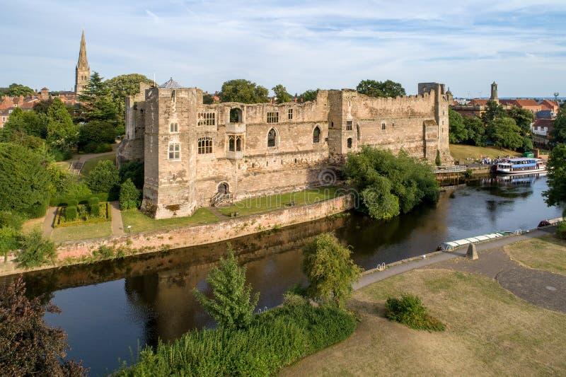 Newark slott i England, UK arkivbild