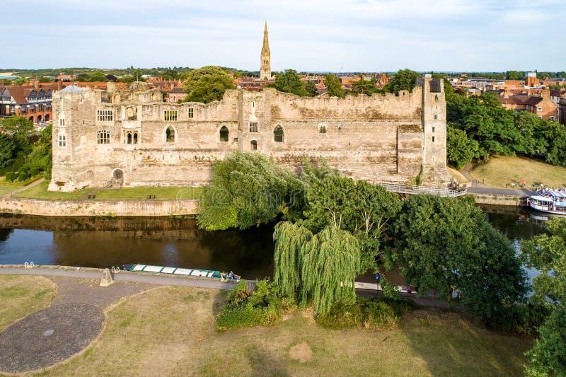 Newark slott i England, UK royaltyfria foton