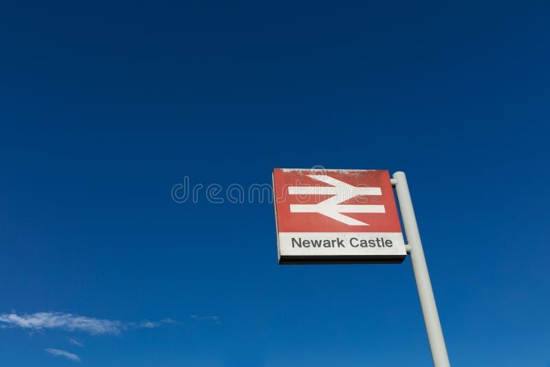 Newark slottjärnvägsstation, Newark, Nottinghamshire, UK, Octo arkivfoto