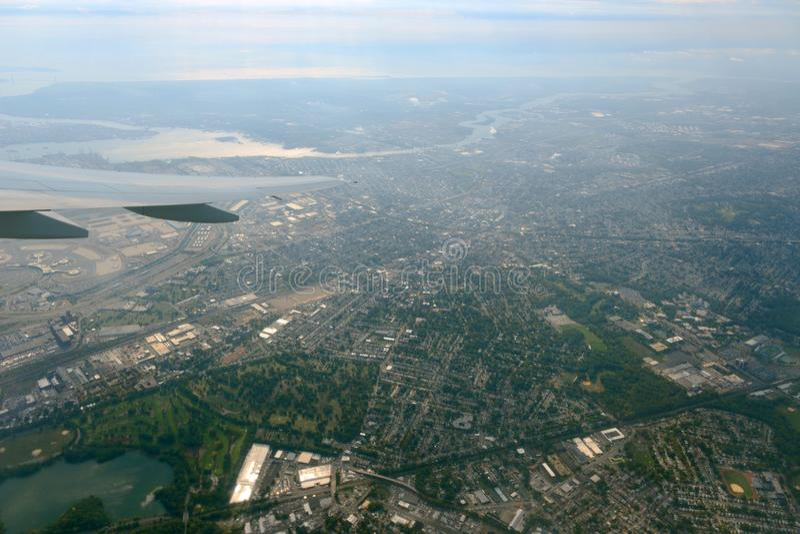 Newark-Vogelperspektive, New-Jersey, USA lizenzfreie stockbilder