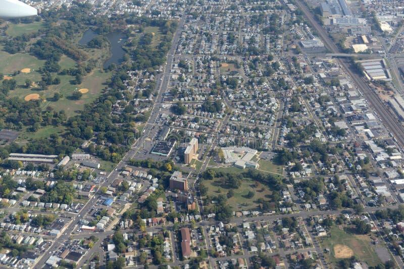Newark-Vogelperspektive, New-Jersey, USA lizenzfreie stockfotografie