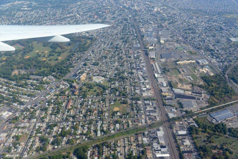 Newark-Vogelperspektive, New-Jersey, USA stockbild