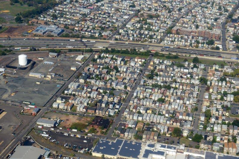 Newark-Vogelperspektive, New-Jersey, USA stockfotos