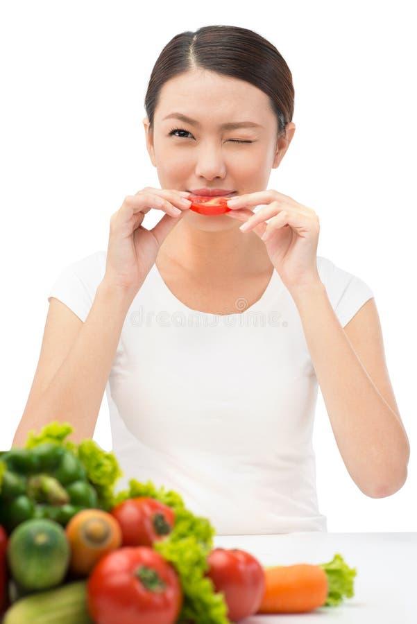 Download Newbie vegetarian stock photo. Image of emotion, eating - 31998848