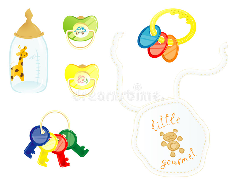 Newborn accessories stock photos