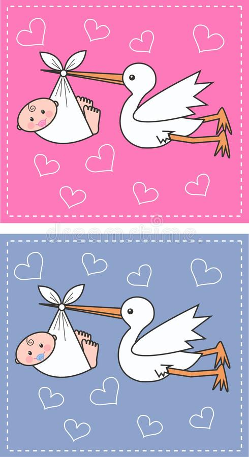Download Newborn baby announcement stock vector. Image of delivery - 22374973