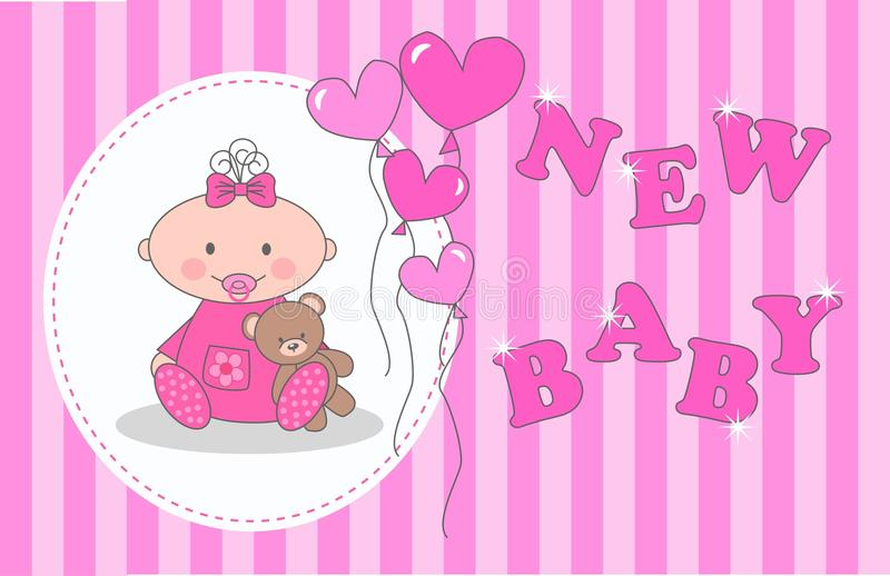 Newborn baby announcement stock image