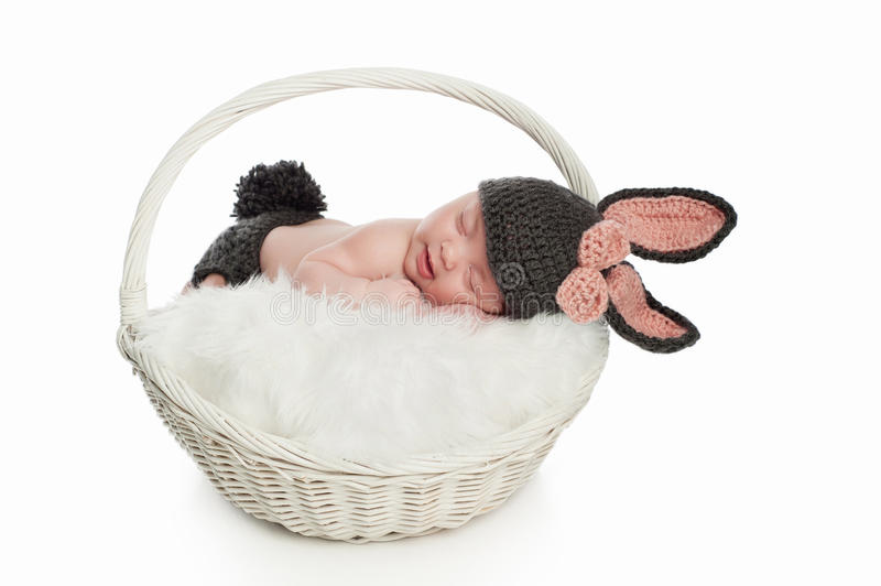 Download Newborn Baby In Bunny Rabbit Costume Stock Image - Image of image, innocence: 37644679