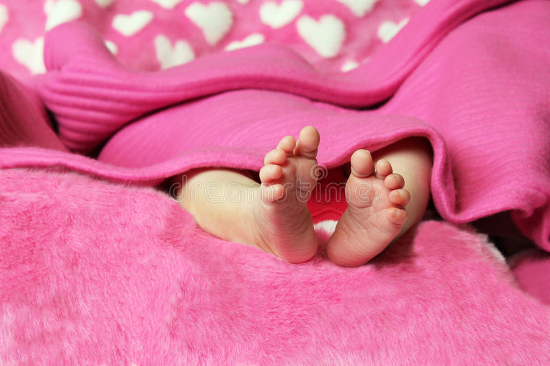 Newborn Baby Clutching Mothers Finger Royalty Free Stock Images