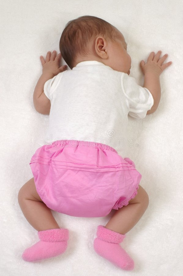 Free Newborn Baby Girl In Pink Royalty Free Stock Photo - 8027225