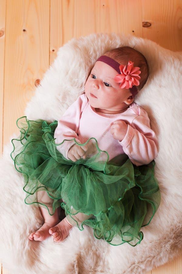 Newborn baby girl stock images