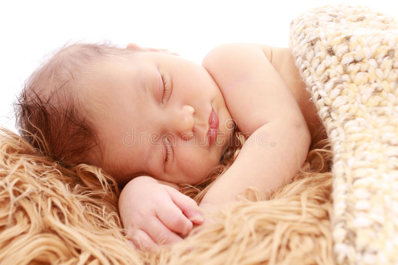 Newborn Baby Sleeping royalty free stock photography