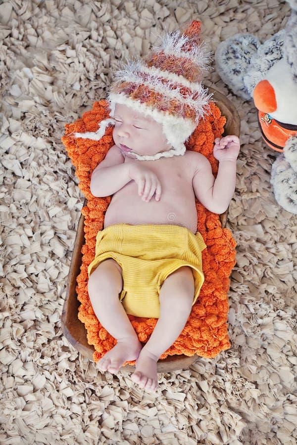 Download Newborn baby stock photo. Image of sleeping, basket, pillow - 30026328