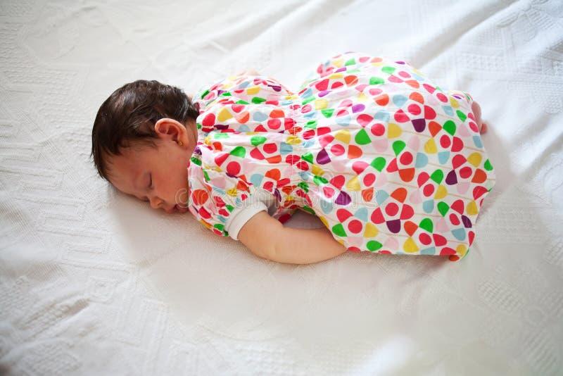 Download Newborn Sleeping In Fetal Position Stock Image - Image: 36497683