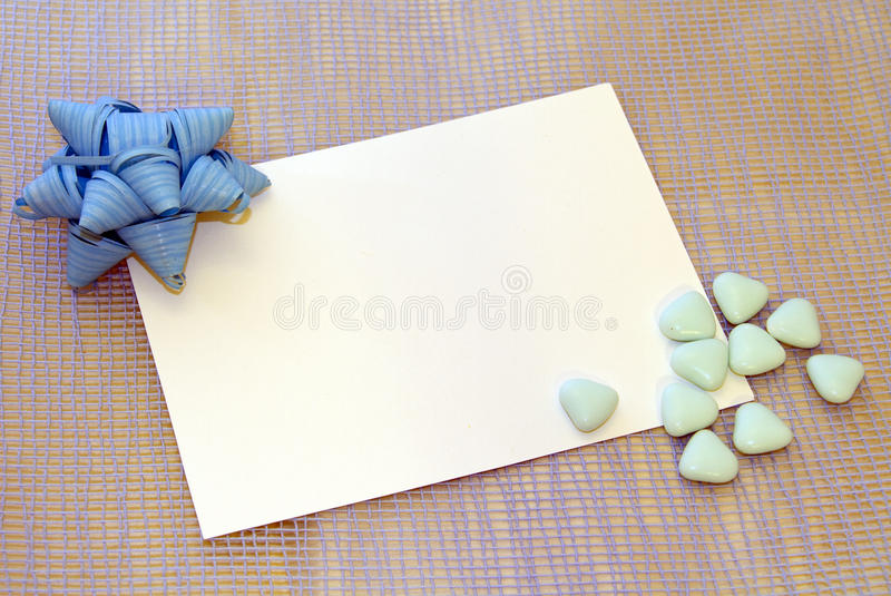 Newborn or baptism card royalty free stock images