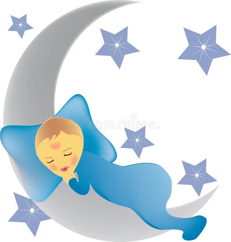 Newborn boy vector illustration