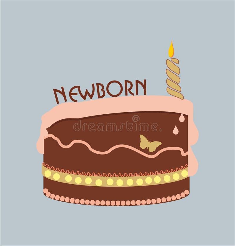 Newborn cake royalty free stock images