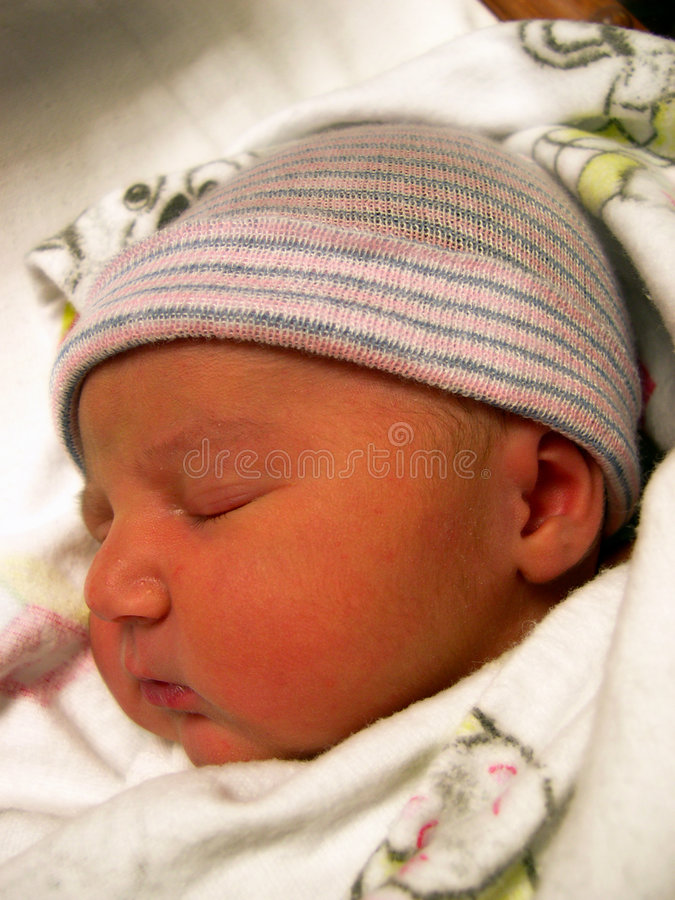 Newborn (close up) royalty free stock image