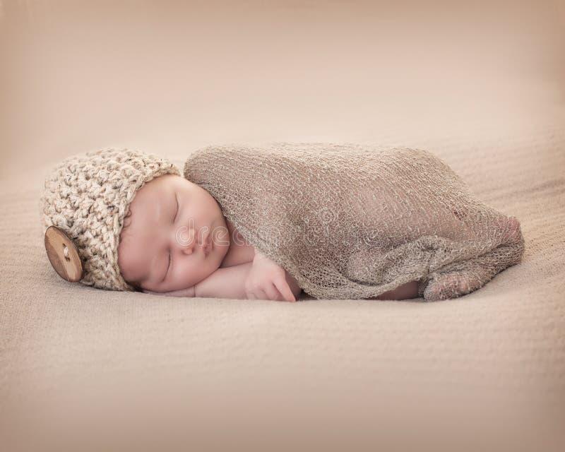 Newborn. Close-up of a Little newborn baby sleeping stock photos
