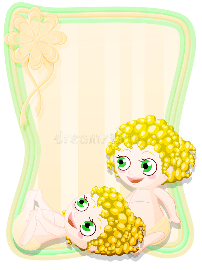 Newborn Female Twins Royalty Free Stock Photos