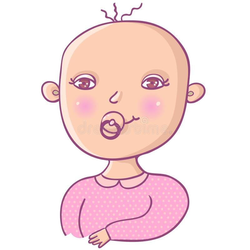 Download Newborn girl stock illustration. Illustration of infant - 9497553