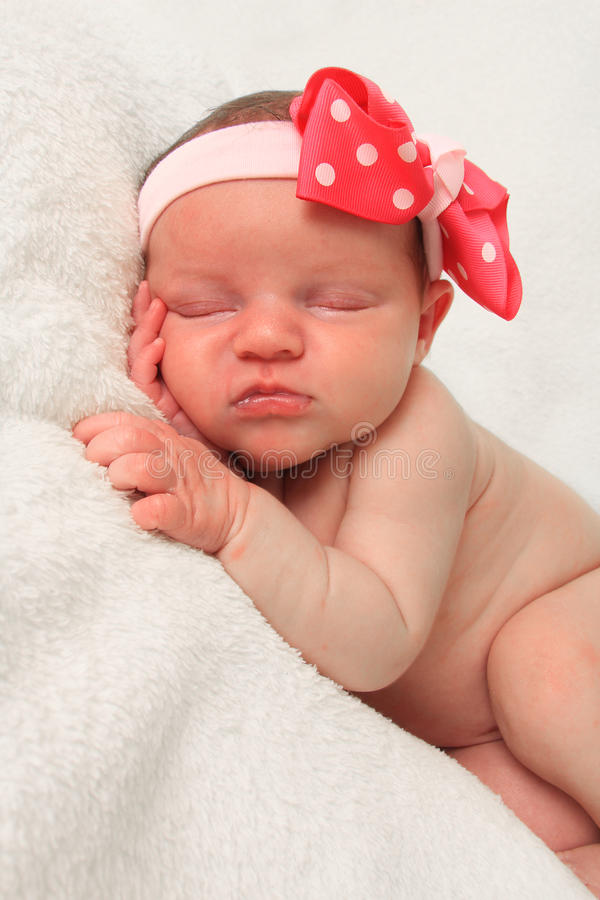 Newborn girl royalty free stock photo